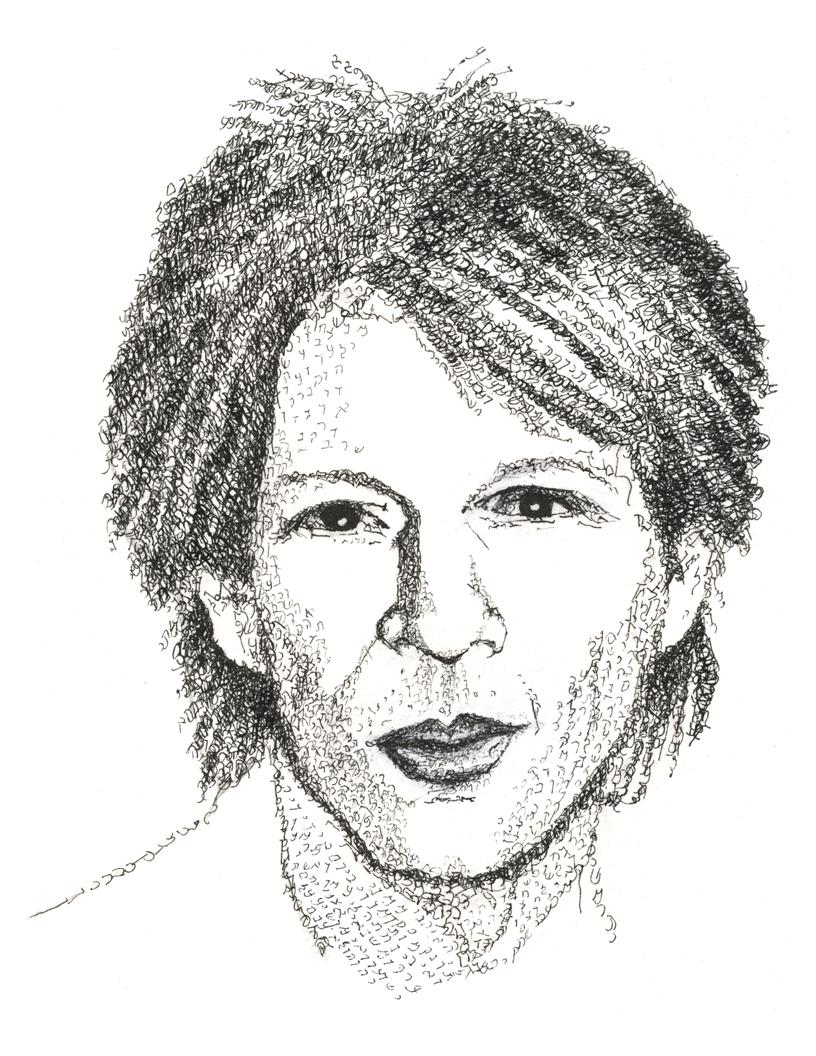 Jon Bon Jovi Psalm 18 portrait by Judy Rey Wasserman